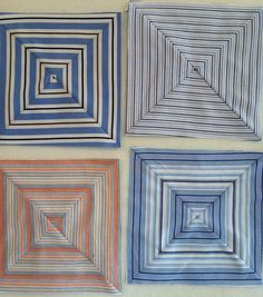 Mamaka Mills Recycled and Custom Memory Quilts: Recycled Quilt Squares from Striped Recycled Men's Shirts. Plaid Quilt, Striped Quilt, Striped Fabrics, Quilt Block Patterns, Quilt Blocks, Patchwork Patterns, Recycled Mens Shirt, Recycling, Baby Quilts