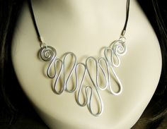 MELTED - Hammered Necklace - Choose Your Own Color. $18.00, via Etsy.