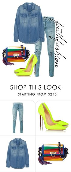 """Untitled #353"" by faithfashionash on Polyvore featuring Yves Saint Laurent, Christian Louboutin, Splendid and Salvatore Ferragamo"