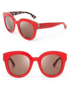 4afb74a932 Dolce&Gabbana Animalier Oversized Round Sunglasses. Lentes, Naranja, Rojo,  Joyas, Gafas De Sol ...