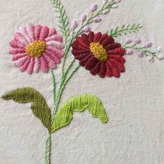 #bordado #tradicional #flores #hilos #DMC #hobby#
