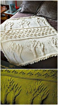 Crochet Tree of Life Afghan Pattern - Crochet Afghan Patterns - 41 Free Patterns for Beginners - DIY & Crafts