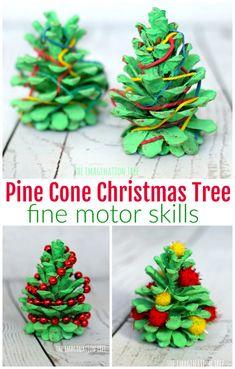 Pine Cone Christmas Tree Fine Motor Activities