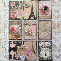 Paris Pocket Letter and Paper Bag Card Pocket Pal, Pocket Cards, Pocket Scrapbooking, Scrapbooking Layouts, Atc Cards, Pocket Letters, Marianne Design, Artist Trading Cards, Birthday Diy