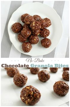 No-Bake Chocolate Granola Bites