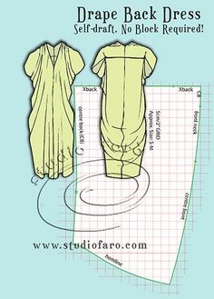 Pattern Puzzle - Drape Back Dress