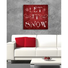 Found it at Wayfair - Let It Snow Textual Art on Wrapped Canvas