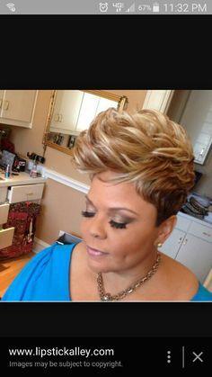 Tamela Mann blonde short do. Short Black Hairstyles, Pretty Hairstyles, Girl Hairstyles, 27 Piece Hairstyles, Short Sassy Hair, Short Hair Cuts, Short Hair Styles, Hair Magazine, My Hairstyle