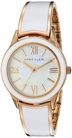 Anne Klein Women's AK/2028WTRG Rose Gold-Tone and White Bangle Watch >>> Want to know more about the watch, click on the image.