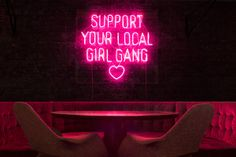 Neon - Support you local girl gang by Nick Thomm for retailer Mercy-Merci in Melbourne, Australia