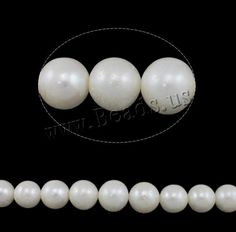 #Milky Way Jewelry - #Milky Way Jewelry Round Cultured Freshwater Pearl Beads - AdoreWe.com