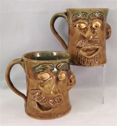 Face Mug by Crystal King #PinehurstPottery