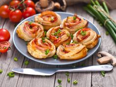 Ham and Cheese Puff Pastry Rolls