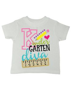 Kindergarten Diva 100% preshrunk cotton Unisex fit for boys and girls Toddler and youth sizes