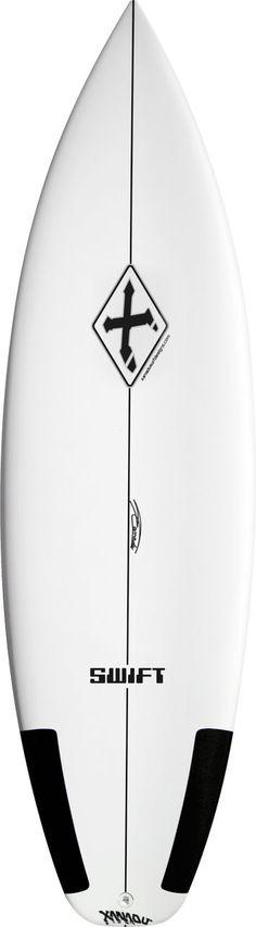 "C1019-0510-XAN 5'10"" Xanadu Swift 19.5"" x 2.18"" TLpro Carbon Surfboard by Surftech"