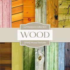 Wood Textures Digital Paper DP642 - Digital Paper Shop - 1