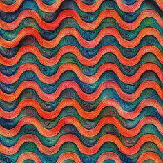 Frozen underwater liquid red waves #DeepDream #Art