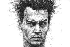 何百もの走り書きで描かれた、リアルなポートレート作品集「Faces」   roomie(ルーミー)