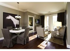 this was the model for the condo in Sandy Springs. I like the living room furniture bc its similar to ours and the rug is similar. I love those floors!