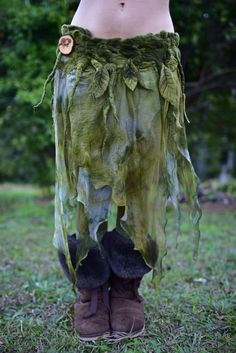 Earth Witch: #Earth #Witch ~ Nuno Felted Melted Pixie Woodland Nymph Forest Fairy, by frixiegirl.