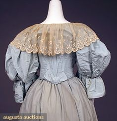 Ballgown (image 4)   House of Worth   France; Paris   1890s   silk faille, lace, wool challis   Augusta Auctions   May 2007/Lot 557