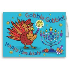 Shop Card for Thanksgiving and Hanukkah-Thankgivukkah! Hanukkah Cards, Happy Hanukkah, Thanksgiving Cards, Holiday Parties, Holiday Cards, Holiday Gifts, Crafts For Kids To Make, Beautiful Christmas, Paper Texture
