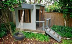 Creative Cubby House Ideas. Planning on building a cubby house in your backyard? Get your imagination kick started with these fun examples.