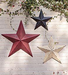 Americana Distressed Decorative Metal Stars