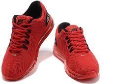 http://www.asneakers4u.com/ Nike Air Max 2013 Mens Shoes in Red with Grey Logo3