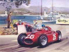 1955-Alberto Ascari-racing cars by Michael Turner