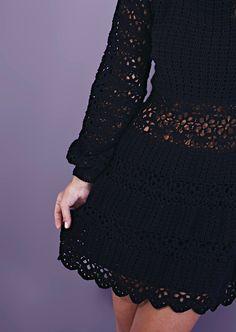 Blouse Dress, Knit Dress, Dress Skirt, Lace Skirt, Fashion Idol, Fashion Outfits, Crochet Cardigan, Knit Crochet, Vestidos Fashion