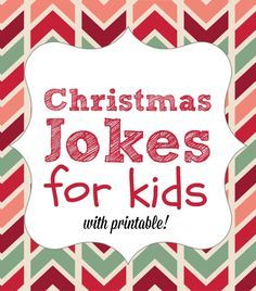 25 Printable Christmas Jokes for Kids Christmas is a time for fun and cheer. These 25 PRINTABLE Christmas jokes for kids will have all of you laughing and having fun together. Christmas Jokes For Kids, Christmas Games, Christmas Activities, Christmas Printables, Christmas Traditions, All Things Christmas, Winter Christmas, Activities For Kids, Christmas Ideas