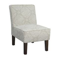 Alexandra Accent Chair KD in Light Gray
