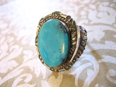 Vintage Sterling Silver Indian Turquoise Ring w by charmingellie, $45.00