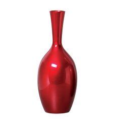 Esse Vaso em Cerâmica Pequeno de Chão na cor vermelho metálico, vai valorizar ainda mais o seu plano decorativo na função de um lindo enfeite.