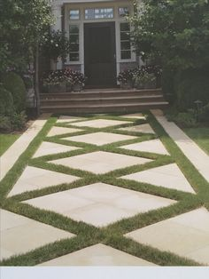 Backyard Cement Patio Garden Paths 69 Ideas For 2019 Modern Landscaping, Front Yard Landscaping, Backyard Patio, Landscaping Ideas, Patio Ideas, Yard Ideas, Lawn And Landscape, Landscape Design, Cement Patio