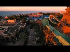 Skateboarding down Dubai's Aquaventure waterslide at Atlantis - published 11th April 2016 - The water was drained away and the skateboarders took advantage! (2:45 mins)