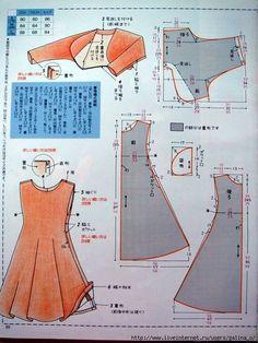 Best 12 Midi dress (can be long outer) – SkillOfKing. Japanese Sewing Patterns, Dress Sewing Patterns, Sewing Patterns Free, Clothing Patterns, Barbie Clothes, Sewing Clothes, Free Clothes, Diy Clothes, Diy Kleidung