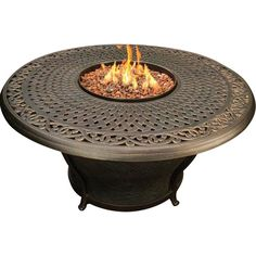 This Charleston Fire Pit is perfect way to enhance your back yard! It's a beautiful addition to any living space, without compromising your budget. The round shape of this elegant fire pit blends seamlessly with any decor, and it will be a great place for your guests to gather around! It features a woven cast aluminum top, a powder coated cast aluminum frame with fiberglass reinforced panels. The Agio Charleston Gas Fire Pit produces up to 40,000 btu's. Hidden Control Panel - High / Medi...