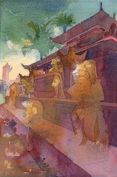Monkey Forest, Ubud, Watercolour Painting, David, Art, Art Background, Kunst, Gcse Art, Art Education Resources