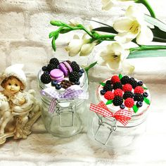 Вкусные баночки Polymer Clay Charms, Polymer Clay Projects, Pasta Flexible, Cold Porcelain, Diy And Crafts, Resin, Cups, Tableware, Gifts