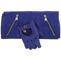 and and An old cluch + one grommet + biker glove = DIY McQueen glove clutch? Cluch Bag, Biker Gloves, Yves Klein Blue, Alexander Mcqueen Clutch, Tardis Blue, Lavender Blue, Electric Blue, Passion For Fashion, Bag Accessories