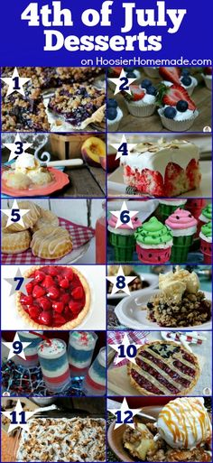 4th of July Desserts | Recipes on HoosierHomemade.com