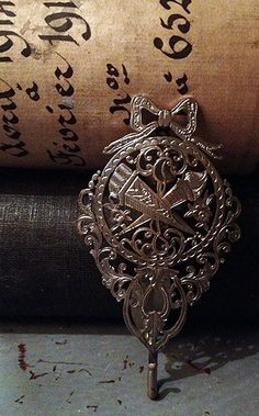 French Silver Chatelaine  FleaingFrance Brocante