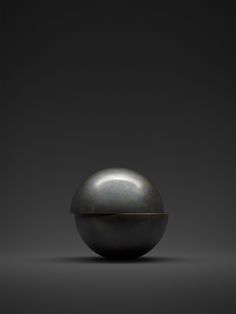This black/ gray sphere is a good example of form because it shows volume. The sphere is 3D. It looks as if the sphere could be either really small or really big in an empty room.
