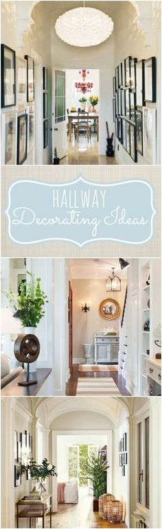 Hallway decorating ideas and tips for decorating a long narrow hallway. #Narrowhallwaydecorating