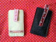 Vorder- und Rückseite der Hüllen fürs eigene smartphone .... genäht von Sarah D.