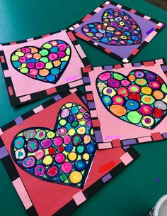 Incorporating kandinsky into valentine art 3 okul рисовать v