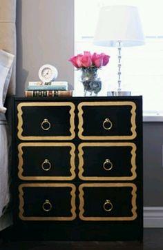Ikea hack - Dorothy Draper endtables