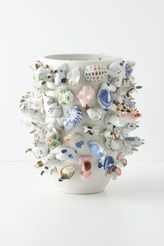 Cornelis Souvenir Vase by Carla Peters Ceramic Pottery, Ceramic Art, Arts And Crafts, Diy Crafts, Contemporary Ceramics, Modern Ceramics, Clay Art, Kitsch, Craft Projects